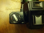 This little dial helps you remember what film you have loaded in the camera.