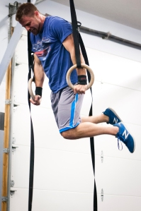 A completed muscle-up