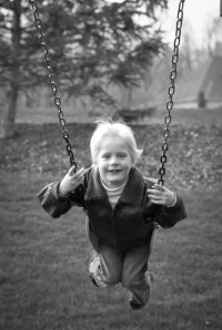 Boy on a swing akron portrait photography